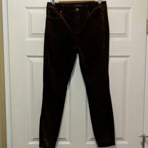 Ann Taylor Dark Plum faux suede Jean pants Sz 6